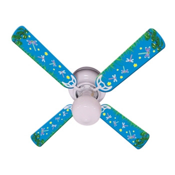"Kids DragoNFLies & Fireflies Ceiling Fan 42"" Blades Only 1"