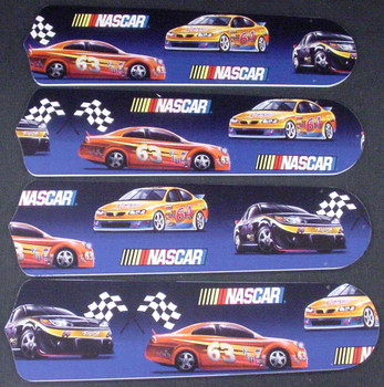 """Nascar Racing Ceiling Fan 42"""" Blades Only 1"""
