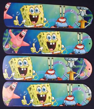 "Sponge Bob Square Pants Ceiling Fan 42"" Blades Only 1"