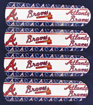 """MLB Atlanta Braves Baseball Ceiling Fan 42"""" Blades Only 1"""