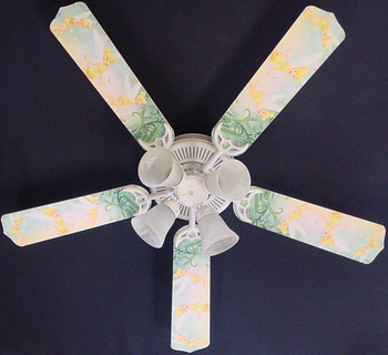 "Tinkerbell Fairy Green Ceiling Fan 52"" 1"