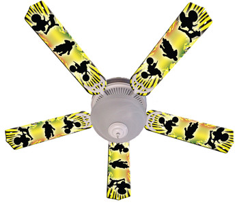 "Kids Baja Mx Motocross Ceiling Fan 52"" 1"