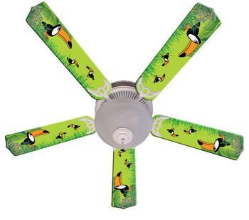 """Kids Toucan Clan Ceiling Fan 52"""" 1"""