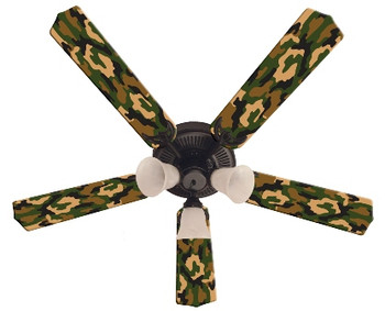 Camoflauge Green Ceiling Fan 52""