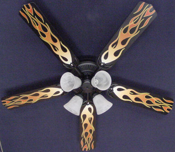 "Flames Ceiling Fan 52"" 1"