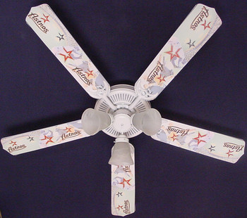 "MLB Houston Astros Baseball Ceiling Fan 52"" 1"