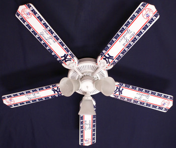 "MLB New York Yankees Baseball Ceiling Fan 52"" 1"