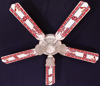 "MLB St. Louis Cardinals Baseball Ceiling Fan 52"" 1"