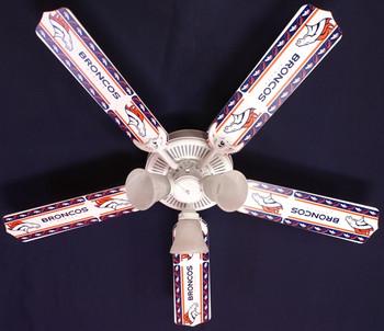 "NFL Denver Broncos Football Ceiling Fan 52"""