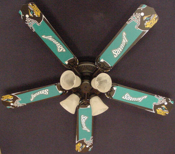 "NFL Jacksonville Jaguars Football Ceiling Fan 52"" 1"