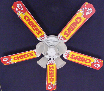 "NFL Kansas City Chiefs Ceiling Fan 52"" 1"