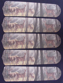 "Deer Buck Doe Hunting 52"" Ceiling Fan Blades Only 1"