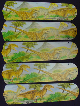 "Dinosaurs T-Rex Jurassic 52"" Ceiling Fan Blades Only 1"