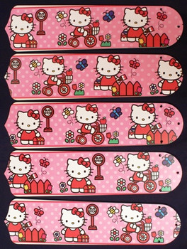 "Hello Kitty Sweet Dreams 52"" Ceiling Fan Blades Only 1"