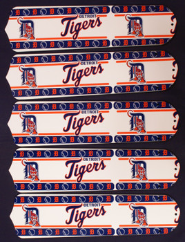 "MLB Detroit Tigers Baseball 52"" Ceiling Fan Blades Only"