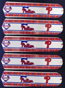 """MLB Philadelphia Phillies Baseball 52"""" Ceiling Fan Blades Only 1"""