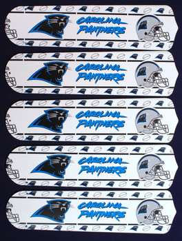 "NFL Carolina Panthers Football 52"" Ceiling Fan Blades Only 1"