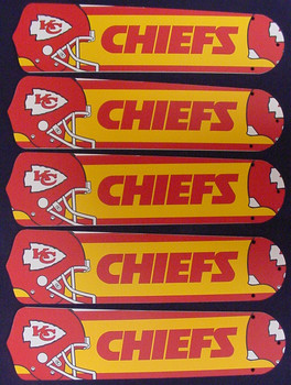 "NFL Kansas City Chiefs 52"" Ceiling Fan Blades Only 1"