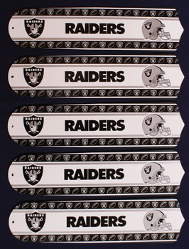 "NFL Oakland Raiders Football 52"" Ceiling Fan Blades Only 1"