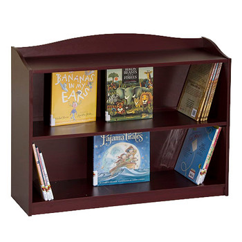 Guidecraft 3 Shelf Bookshelf Cherry 1
