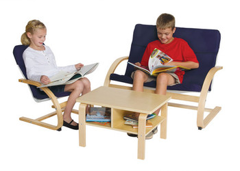Guidecraft Nordic Rocker Reading Area - Blue 1