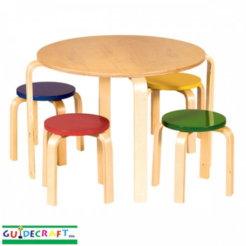 Guidecraft Nordic Table & Chairs Set - Color 1