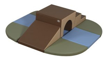 Cozy Woodland Brook Overpass Soft Play Climber 1