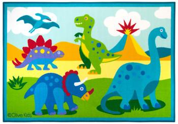 Olive Kids Dinosaur Land Rug - 5x7
