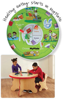 My Plate Kids Magnetic Play Table View