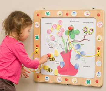 Flowers and Bees Magnetic Wall Game