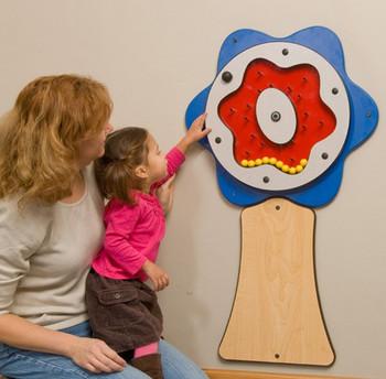 Plinko Flower Wall Activity Toy - Blue - Tree Trunk OPTIONAL