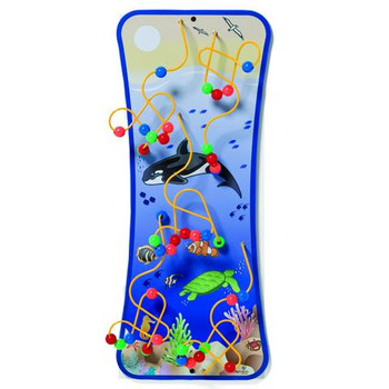 Seascape Wire and Bead Maze Wall Toy