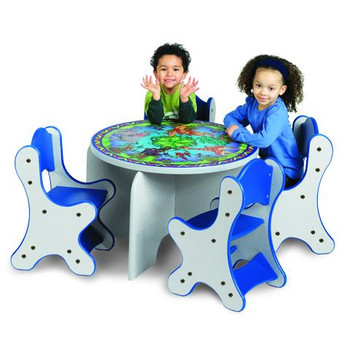 Animal Families Kids 5 Piece Table & Chairs Set