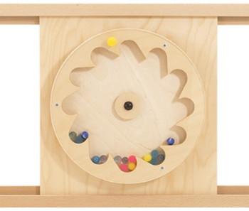 HABA Sensory Wall - Gear Wheel with Rubber Balls