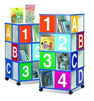 Three-Tier ABC/123 Book Display