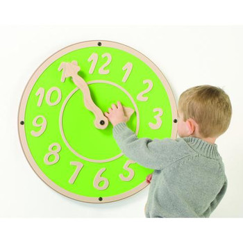 Giant Green Clock Wall Toy