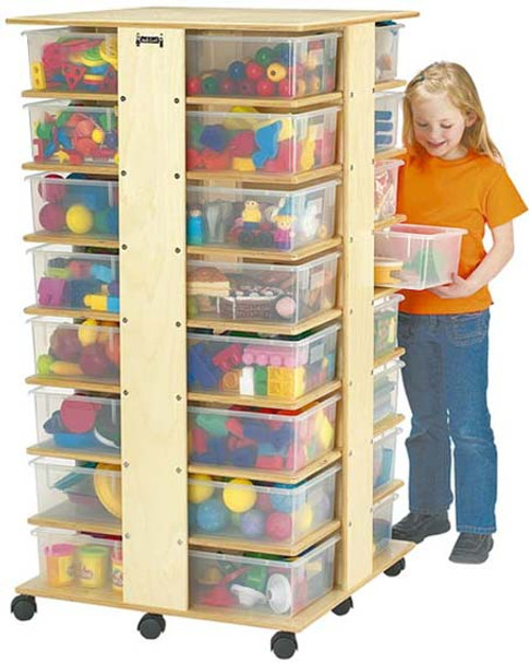 Jonti-Craft 32 Cubbie Tower - with tubs 1