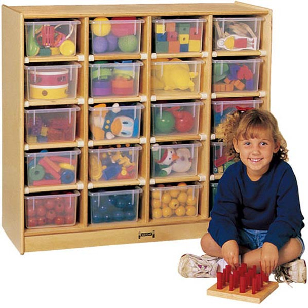 Jonti-Craft 20 Tray Mobile Storage with Trays 1