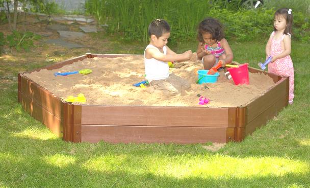 Hexagon Wooden Sandbox Kit 2