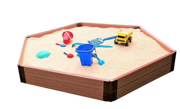 Hexagon Wooden Sandbox Kit 4