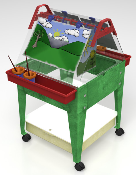 """Childbrite Youth Mobil Sand and Water Activity Center Easel - 24"""" Tall 1"""