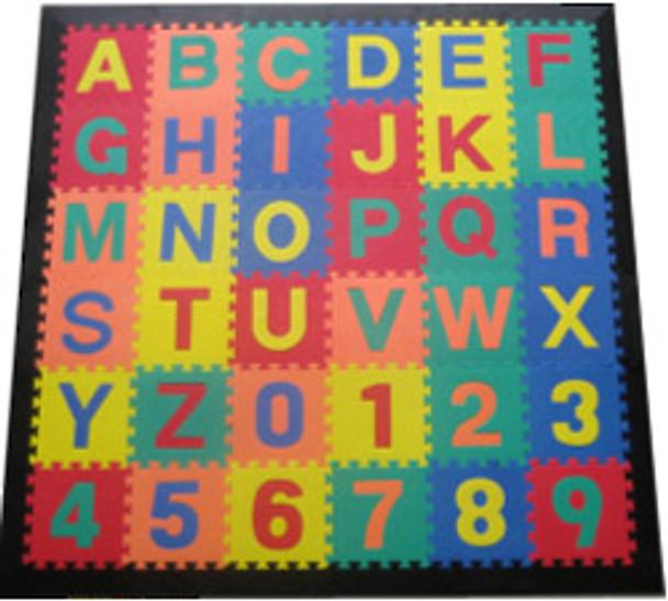 Alphabet Learning Activity Mat Black Border 1