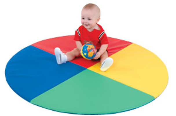 Children's Factory Four Color Pie Soft Child Activity Mat 1