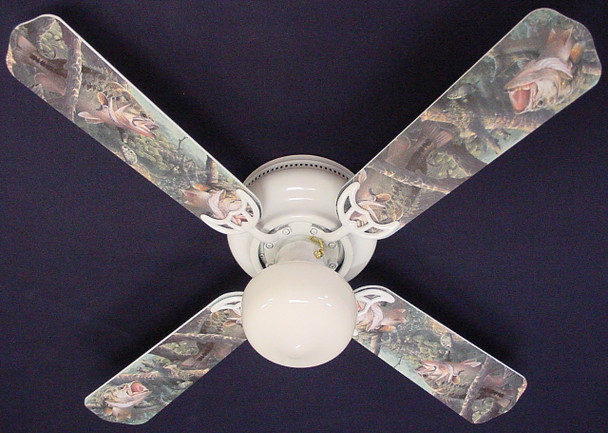 """Large Mouth Bass Fish Ceiling Fan 42"""" 1"""