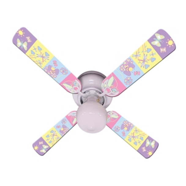 "Baby Nursery Happy Wings Ceiling Fan 42"" 1"
