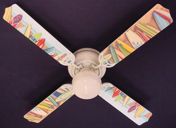 "Hawaiian Surfboards Ceiling Fan 42"" 1"
