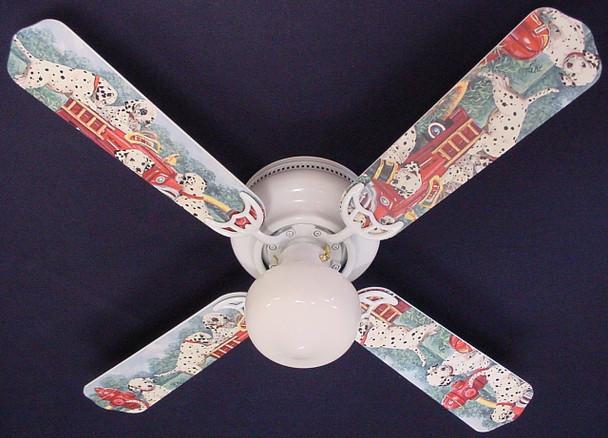 """Dalmations Fire Truck #1 Ceiling Fan 42"""" 1"""