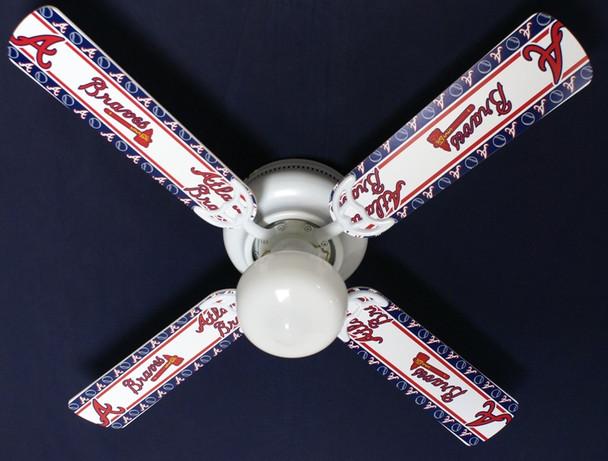 """MLB Atlanta Braves Baseball Ceiling Fan 42"""" 2"""