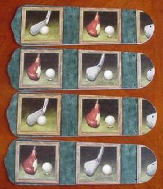 "Golf Clubs Golfers Ceiling Fan 42"" Blades Only 1"