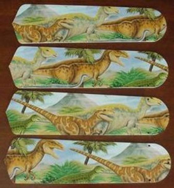 "Dinosaurs T-Rex Jurassic Ceiling Fan 42"" Blades Only 1"